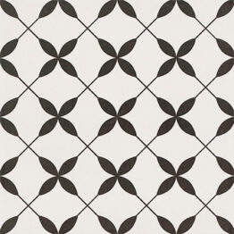 Patchwork Clover Black Pattern 30×30