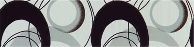 Listela Ramona Nero 6×25