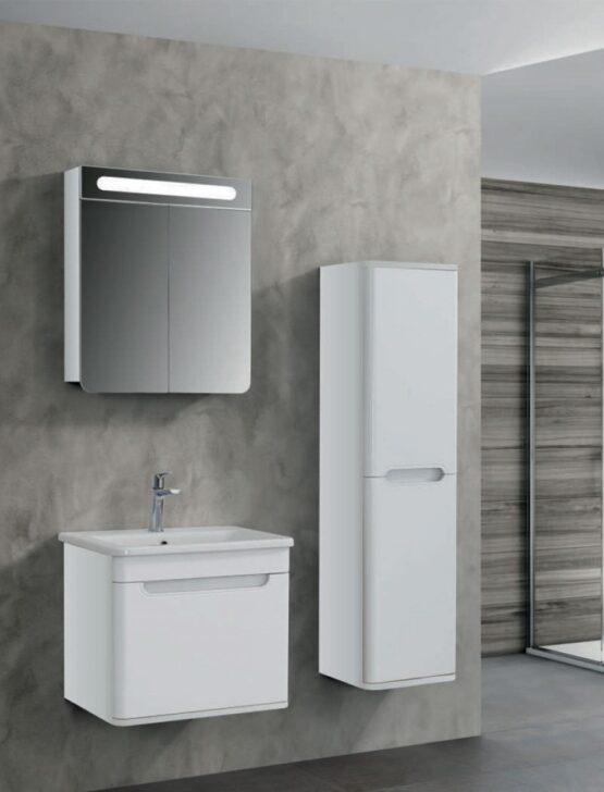 Ogledalo Lineart Wing 600 White